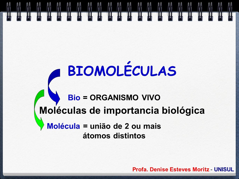 BIOMOLÉCULAS Moléculas de importancia biológica Bio = ORGANISMO VIVO
