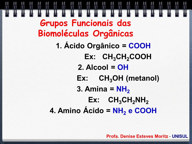 Grupos Funcionais das Biomoléculas Orgânicas