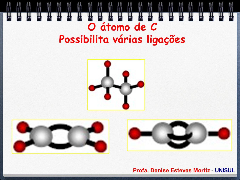 O átomo de C Possibilita várias ligações