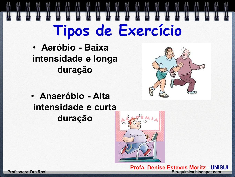 Tipos de Exercício Aeróbio - Baixa intensidade e longa duração