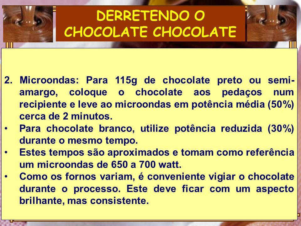 DERRETENDO O CHOCOLATE CHOCOLATE