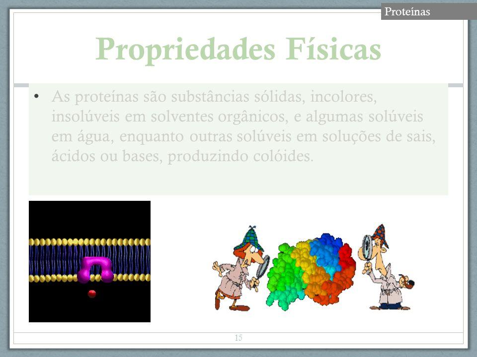 Proteínas Propriedades Físicas.