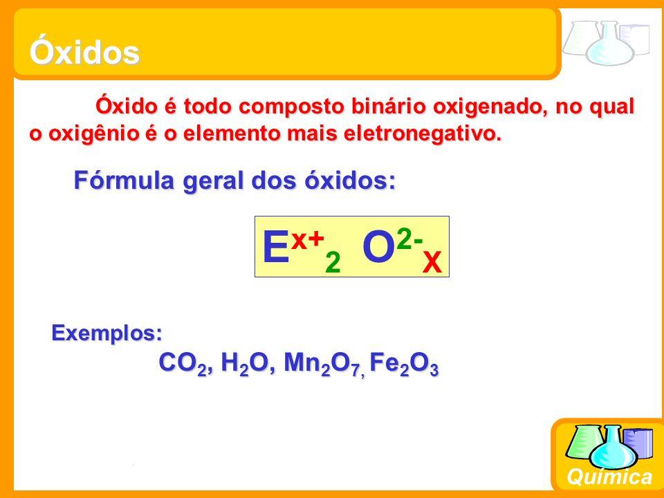 Fórmula geral dos óxidos: