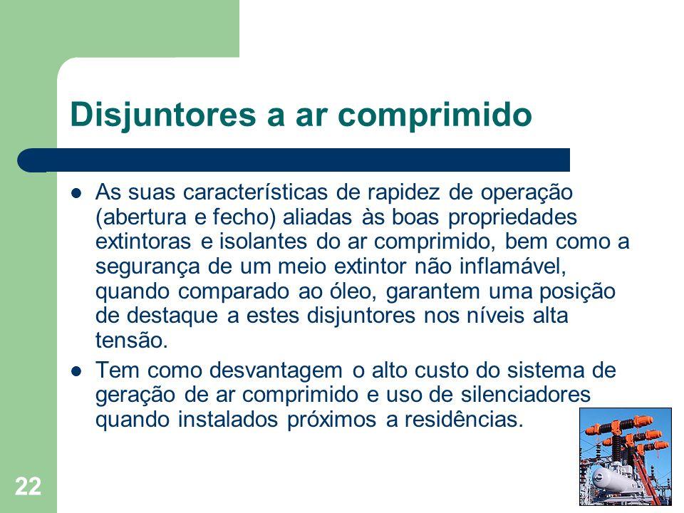 Disjuntores a ar comprimido
