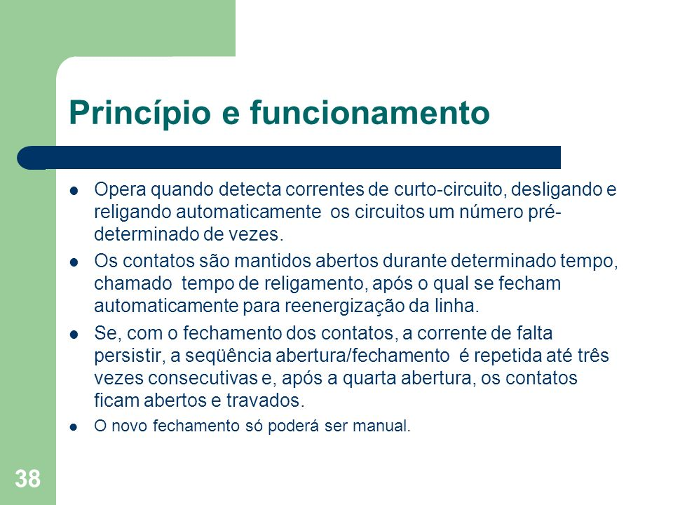 Princípio e funcionamento