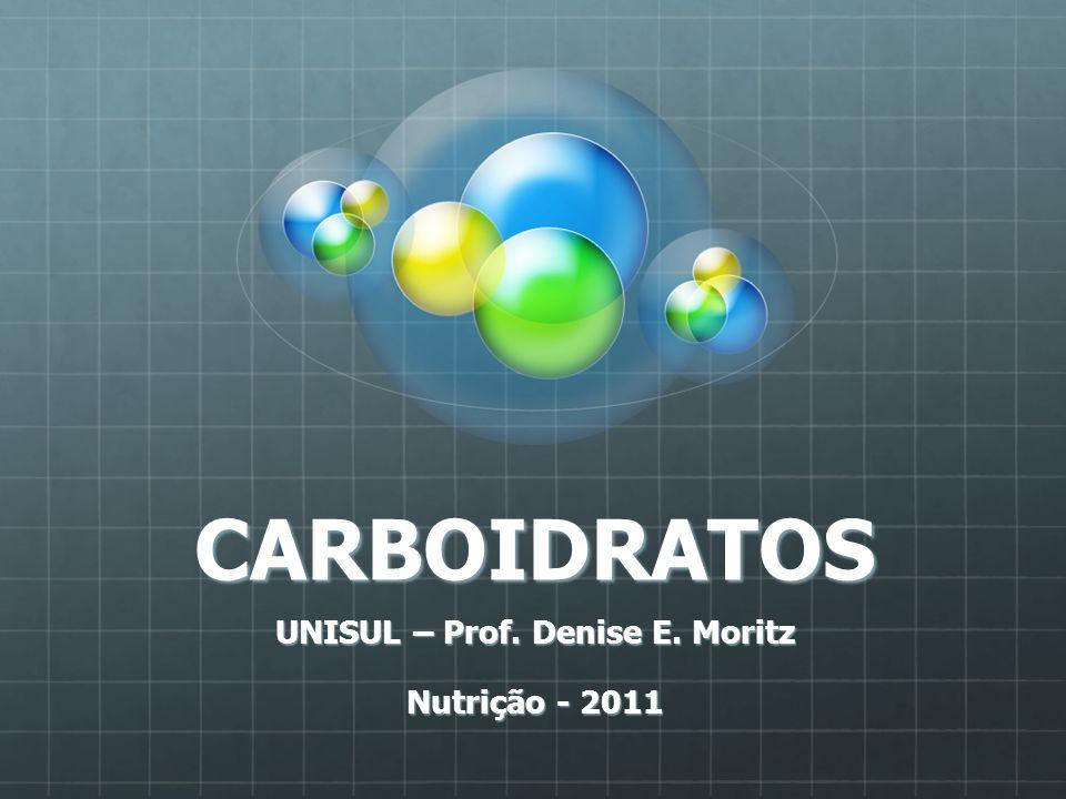 UNISUL – Prof. Denise E. Moritz Nutrição - 2011