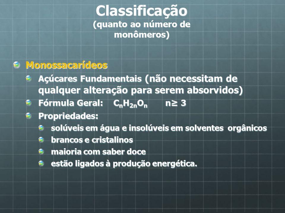 Classificação (quanto ao número de monômeros)
