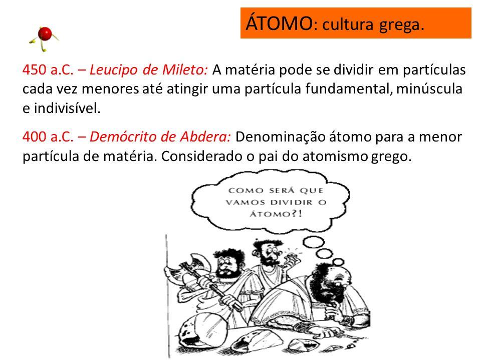 ÁTOMO: cultura grega.