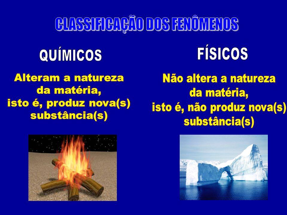 CLASSIFICAÇÃO DOS FENÔMENOS