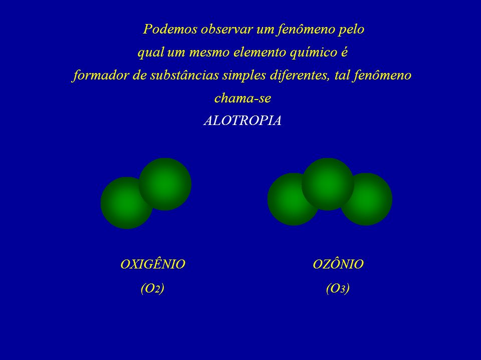 Podemos observar um fenômeno pelo qual um mesmo elemento químico é