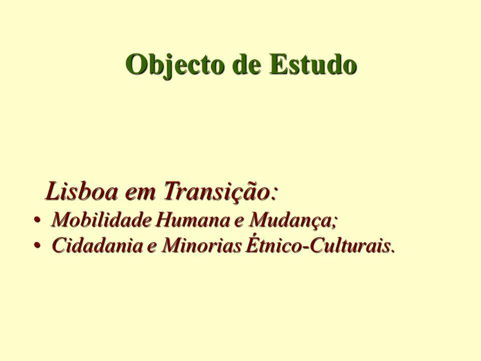 Objecto de Estudo Lisboa em Transição: Mobilidade Humana e Mudança;