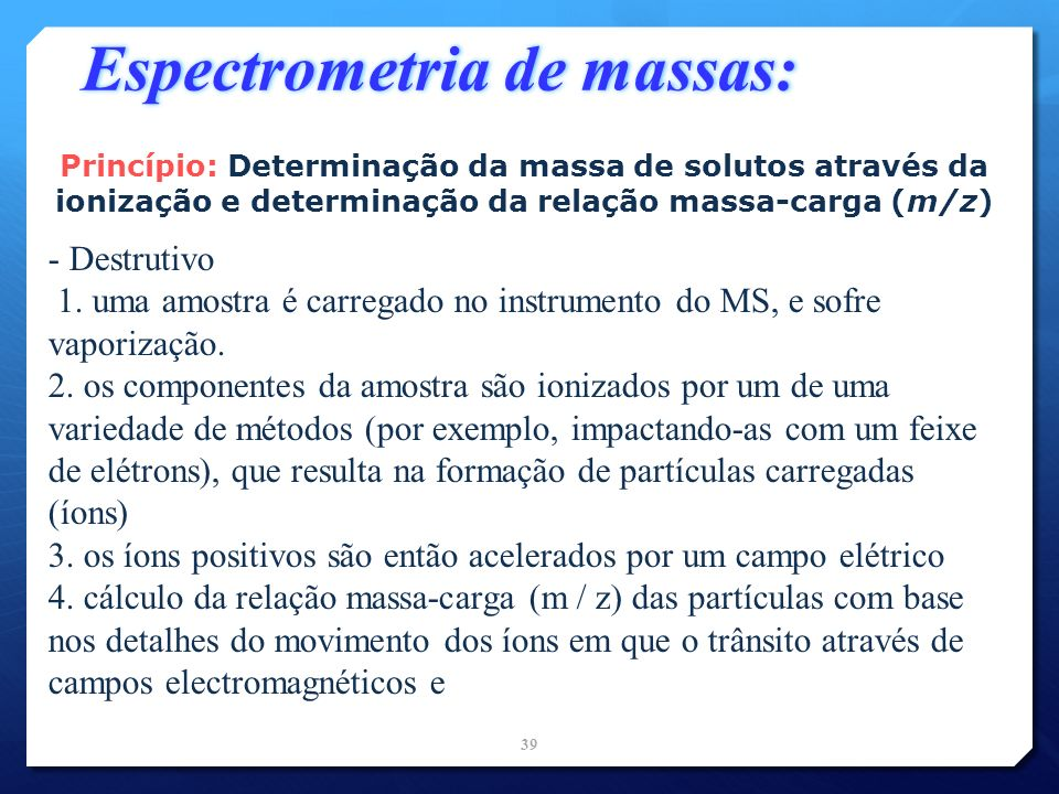 Espectrometria de massas: