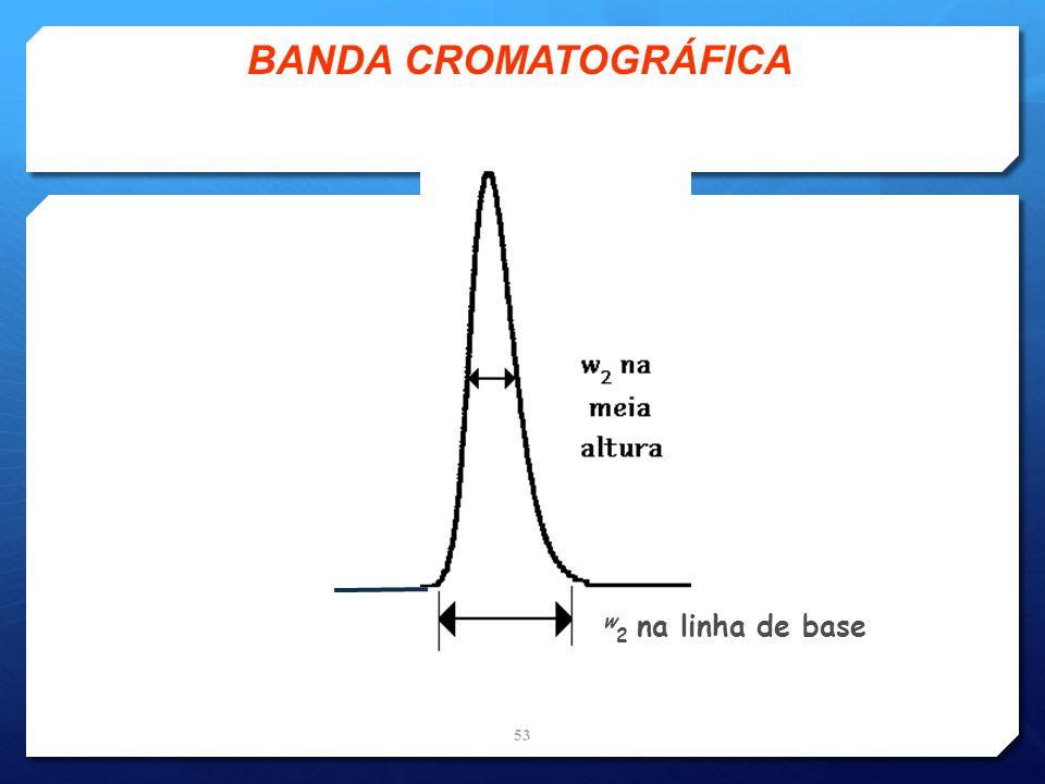 BANDA CROMATOGRÁFICA w2 na linha de base
