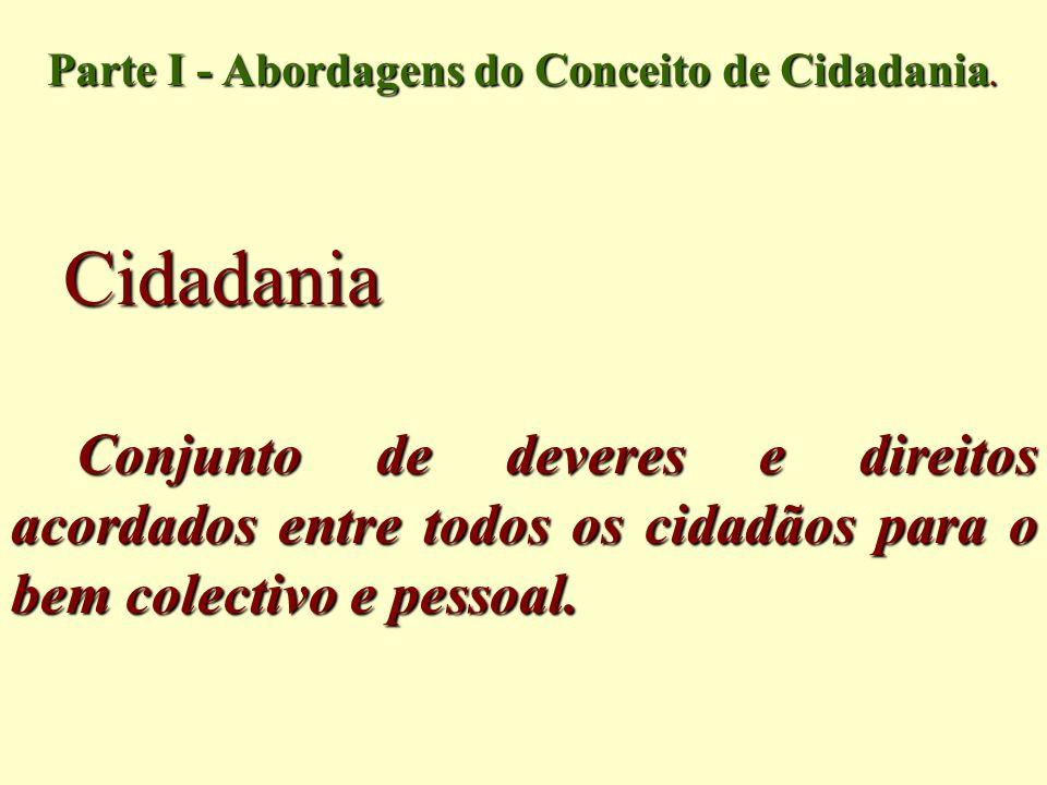 Parte I - Abordagens do Conceito de Cidadania.