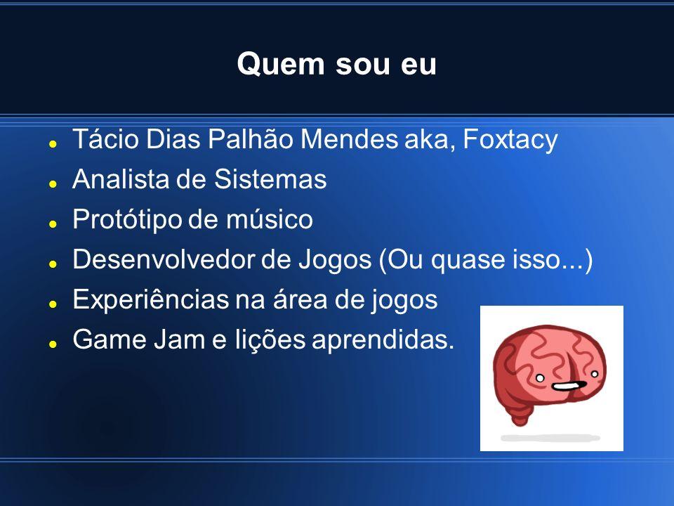 Quem sou eu Tácio Dias Palhão Mendes aka, Foxtacy Analista de Sistemas