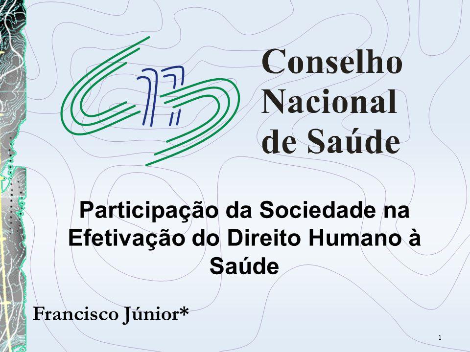 Participação da Sociedade na Efetivação do Direito Humano à Saúde