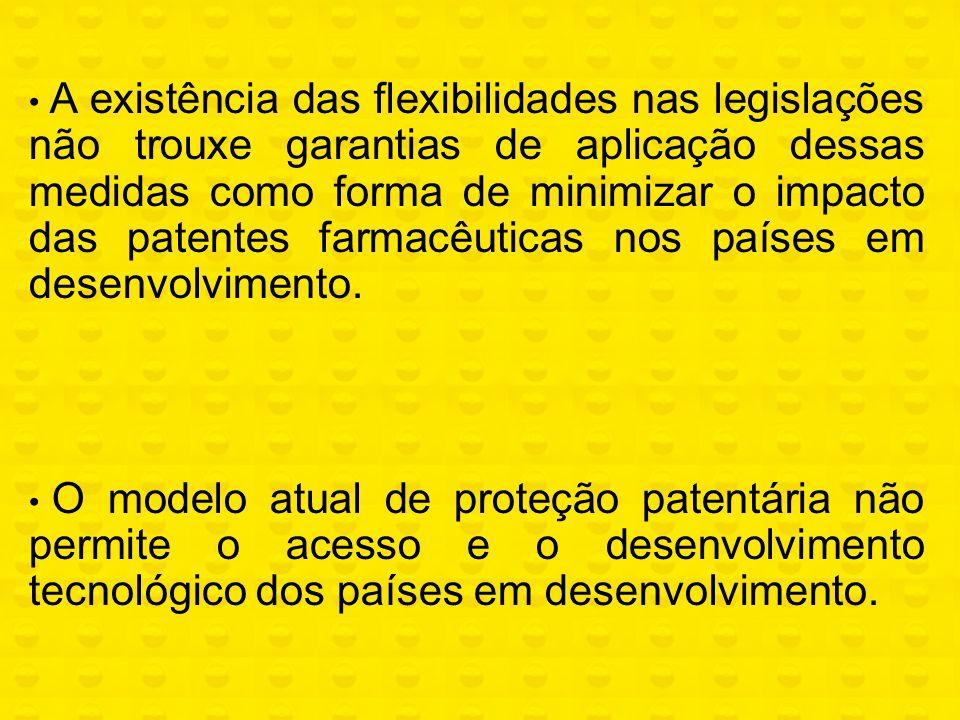 A existência das flexibilidades nas legislações não trouxe garantias de aplicação dessas medidas como forma de minimizar o impacto das patentes farmacêuticas nos países em desenvolvimento.