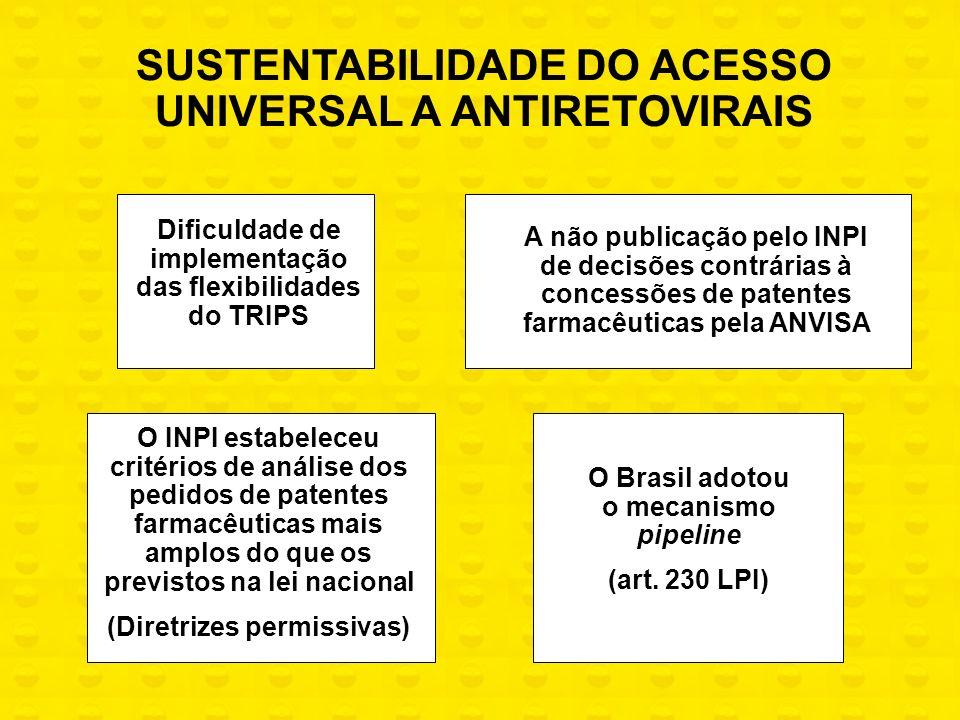 SUSTENTABILIDADE DO ACESSO UNIVERSAL A ANTIRETOVIRAIS