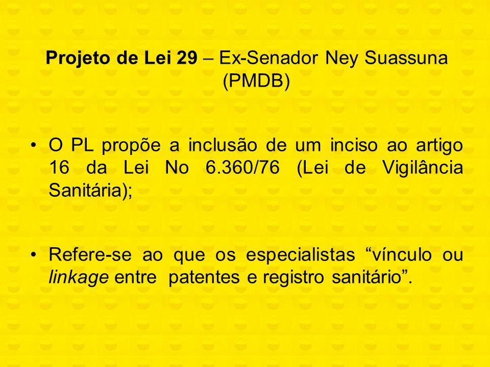 Projeto de Lei 29 – Ex-Senador Ney Suassuna (PMDB)