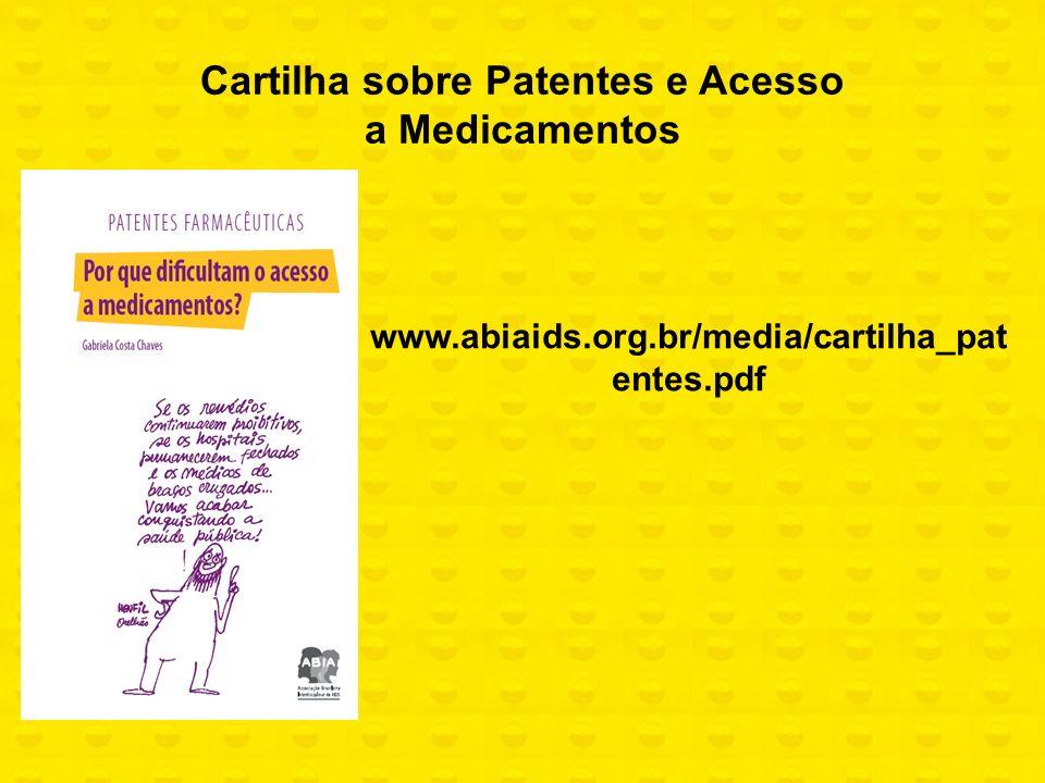 Cartilha sobre Patentes e Acesso a Medicamentos