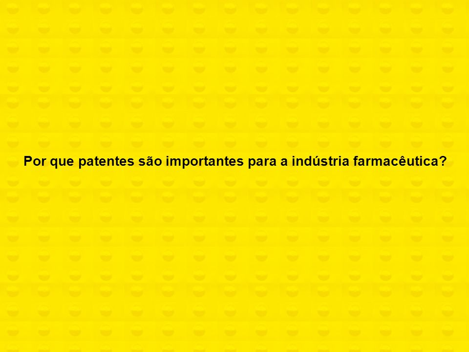 Por que patentes são importantes para a indústria farmacêutica