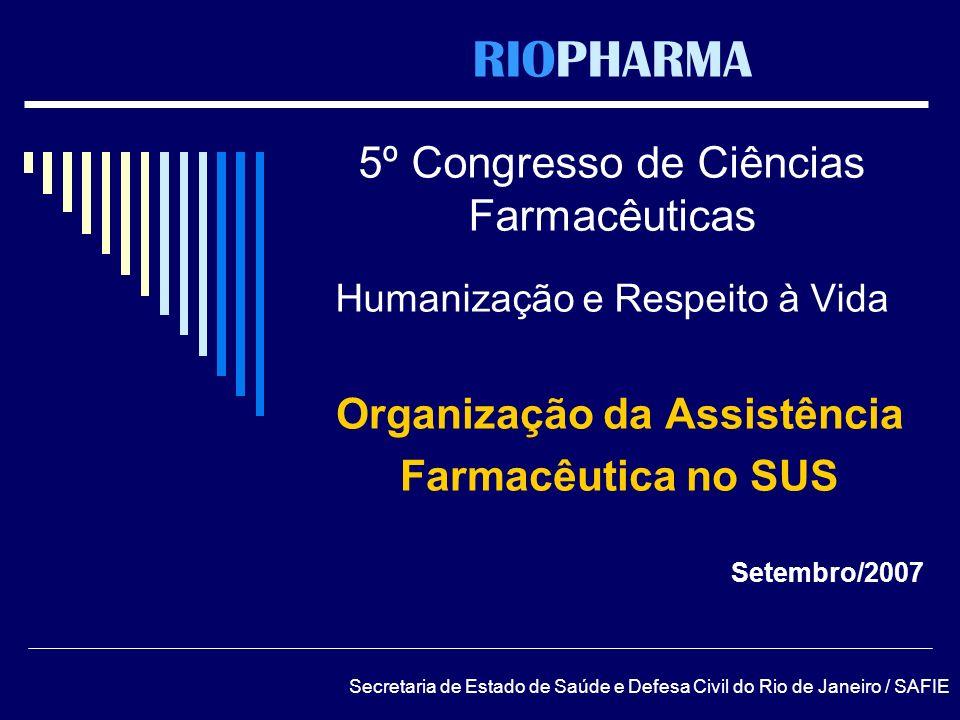 Organização da Assistência Farmacêutica no SUS Setembro/2007