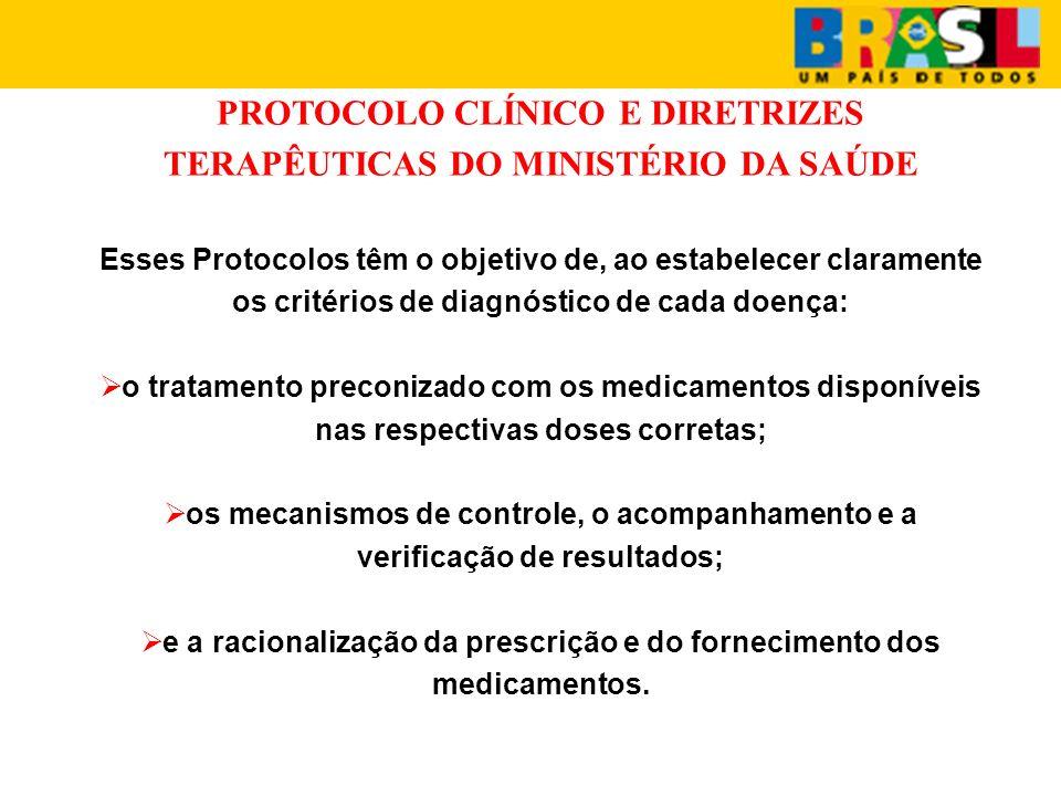 PROTOCOLO CLÍNICO E DIRETRIZES TERAPÊUTICAS DO MINISTÉRIO DA SAÚDE