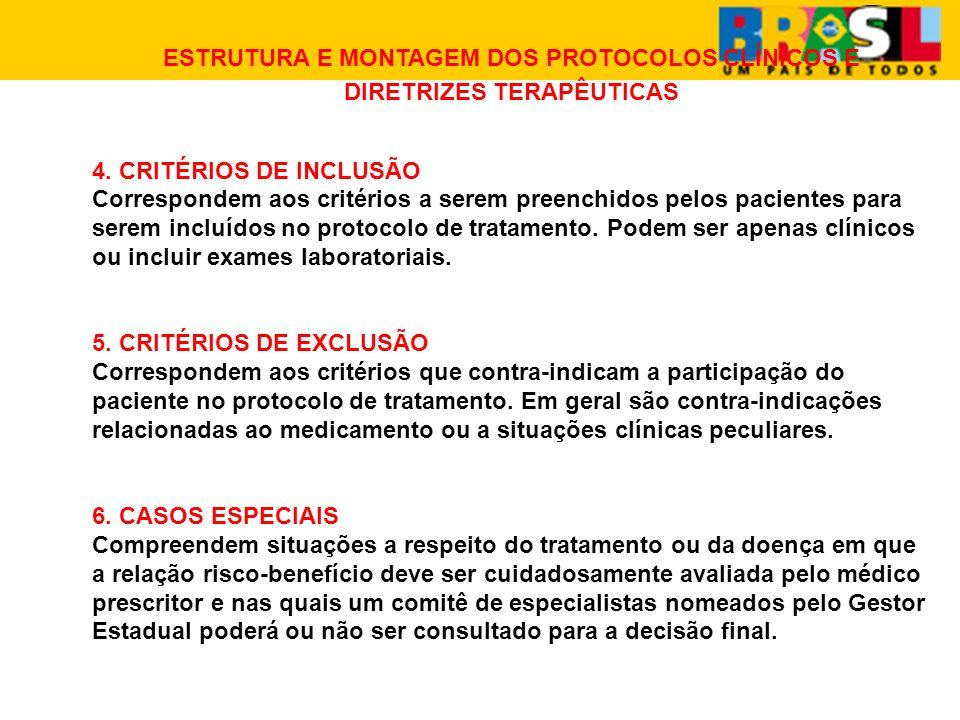 ESTRUTURA E MONTAGEM DOS PROTOCOLOS CLÍNICOS E DIRETRIZES TERAPÊUTICAS