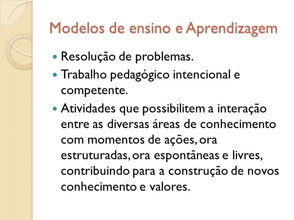 Modelos de ensino e Aprendizagem