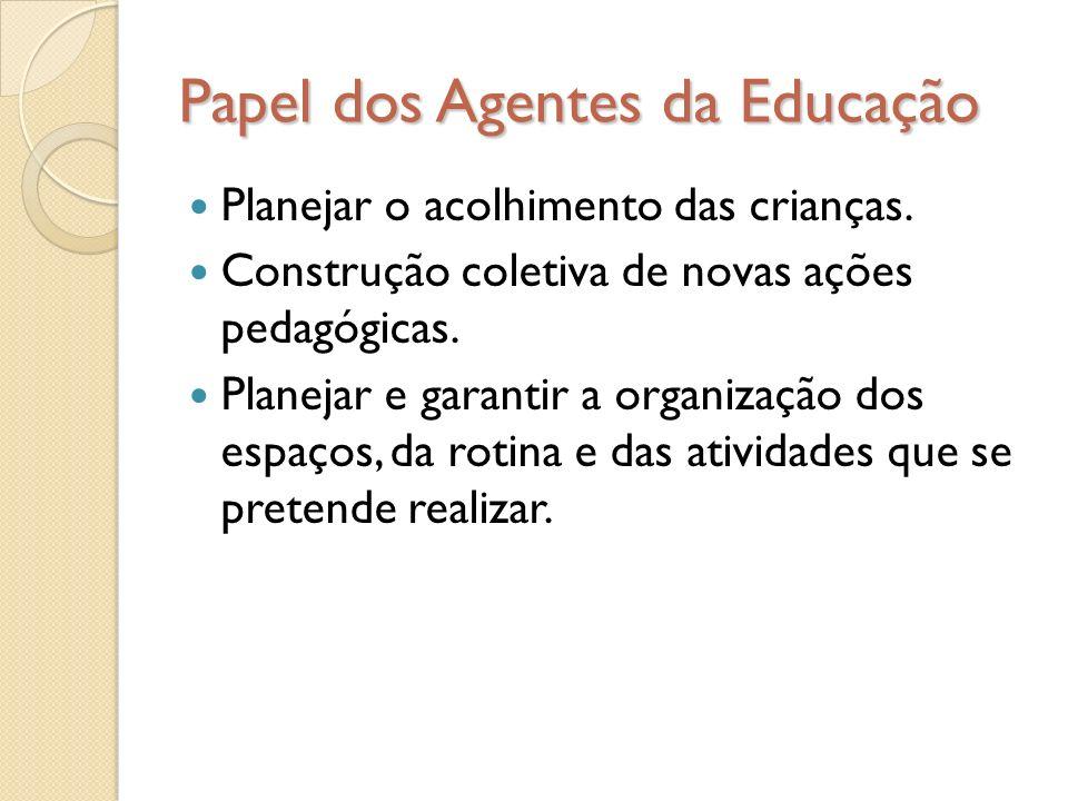 Papel dos Agentes da Educação