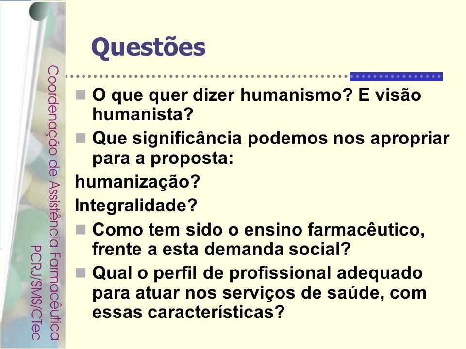 Questões O que quer dizer humanismo E visão humanista