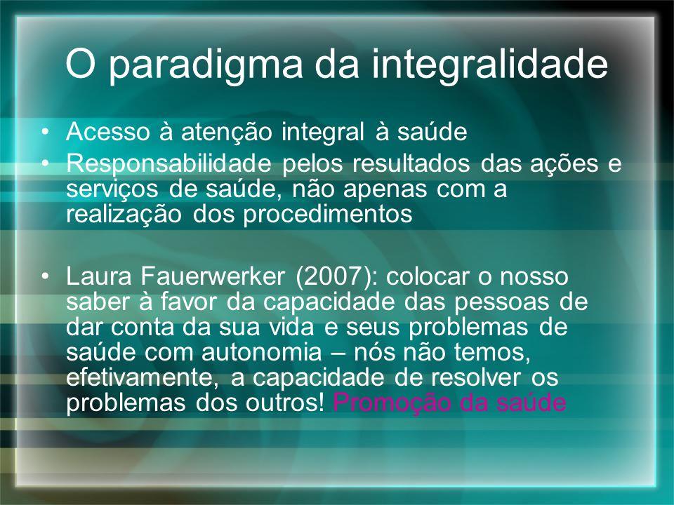O paradigma da integralidade