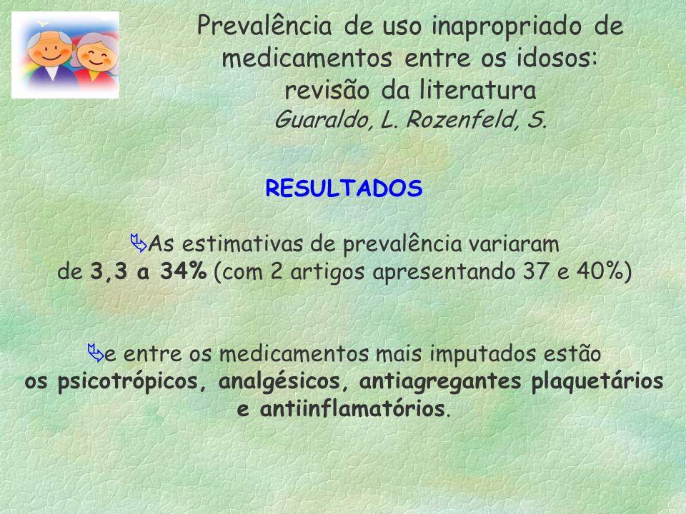 Prevalência de uso inapropriado de medicamentos entre os idosos: