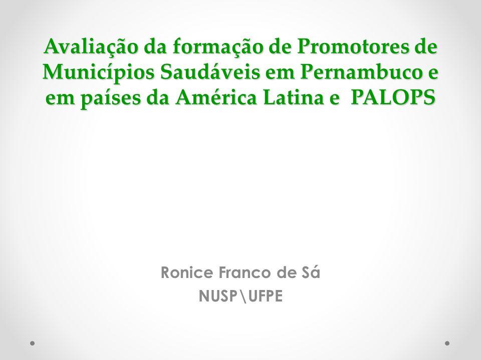 Ronice Franco de Sá NUSP\UFPE