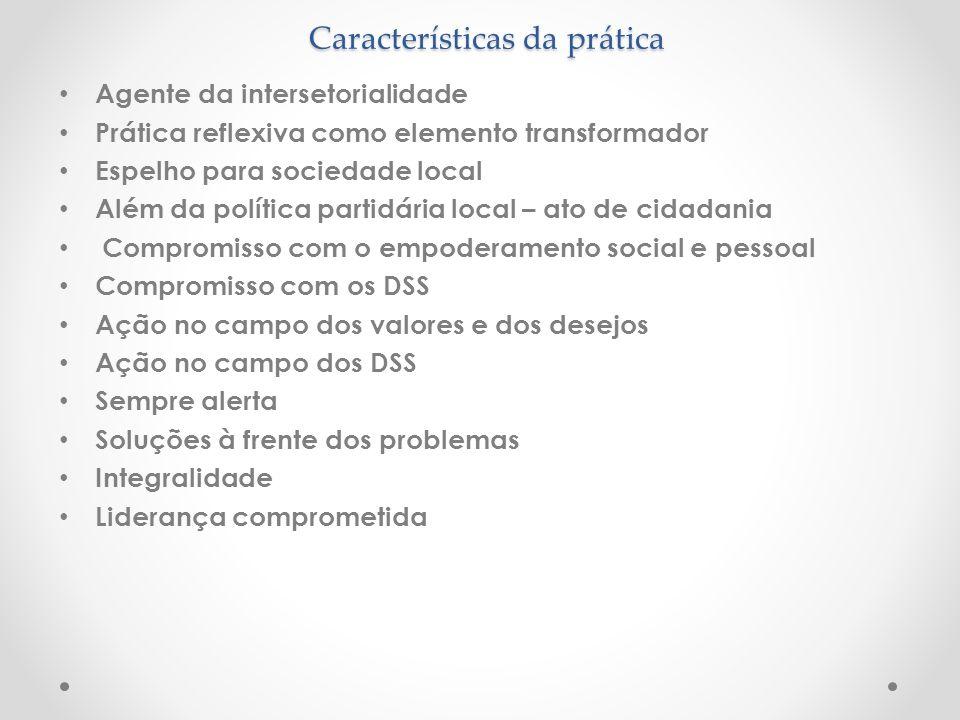 Características da prática
