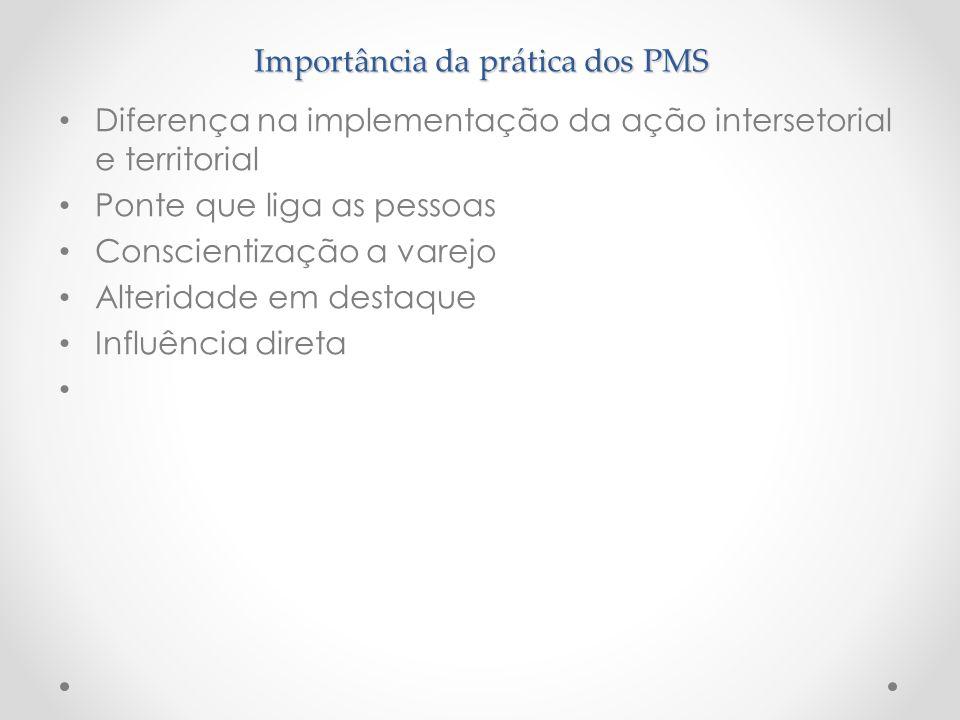 Importância da prática dos PMS