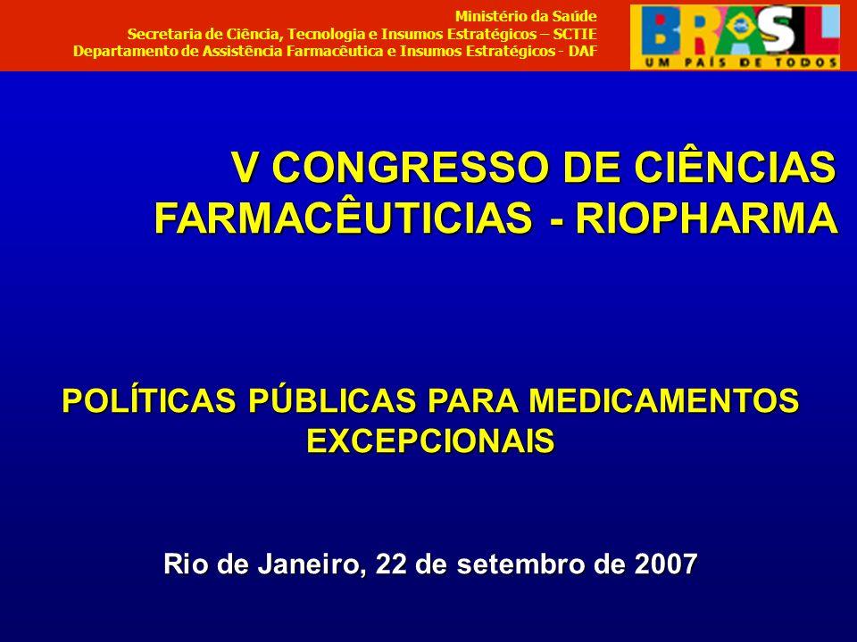 V CONGRESSO DE CIÊNCIAS FARMACÊUTICIAS - RIOPHARMA