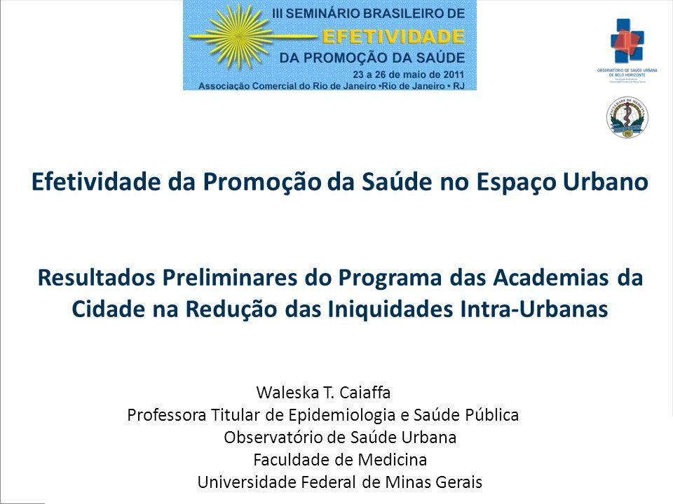 Efetividade da Promoção da Saúde no Espaço Urbano