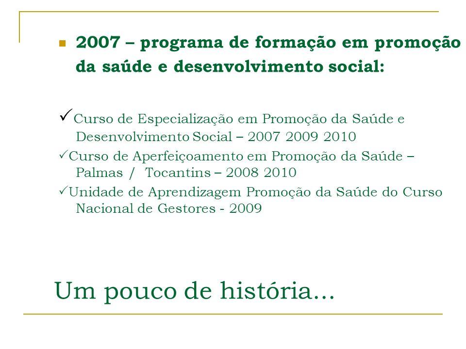 2007 – programa de formação em promoção