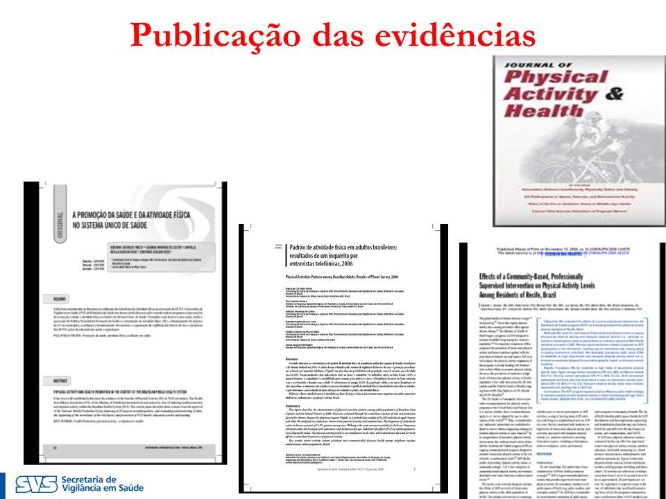 Publicação das evidências