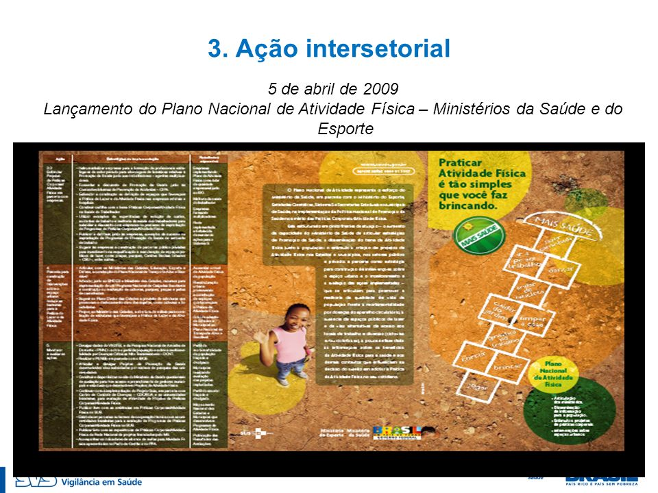 3. Ação intersetorial 5 de abril de 2009