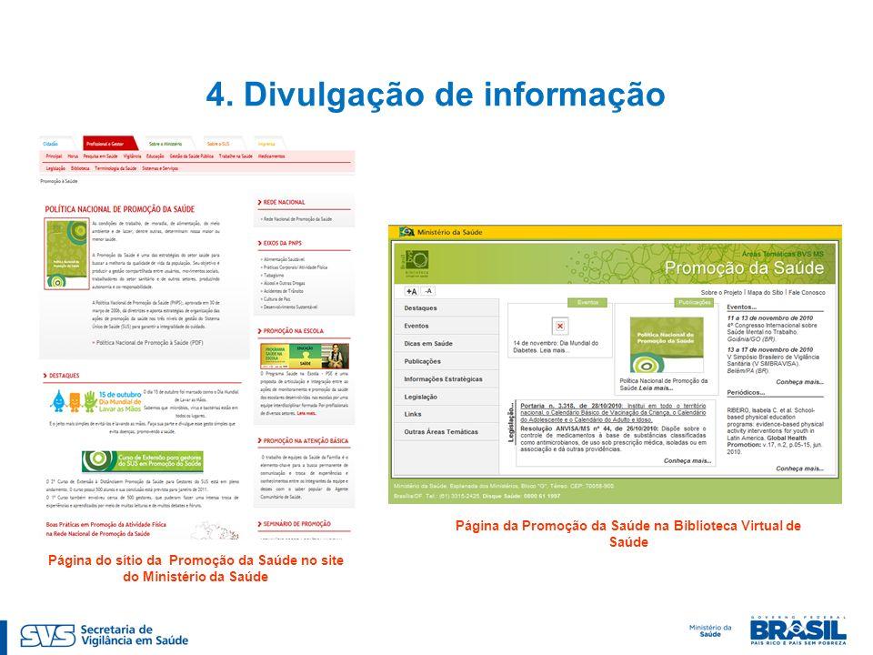 4. Divulgação de informação