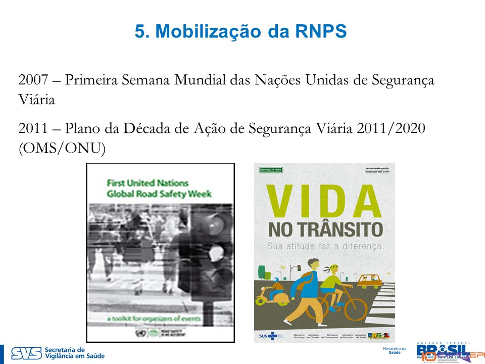 5. Mobilização da RNPS 2007 – Primeira Semana Mundial das Nações Unidas de Segurança Viária.