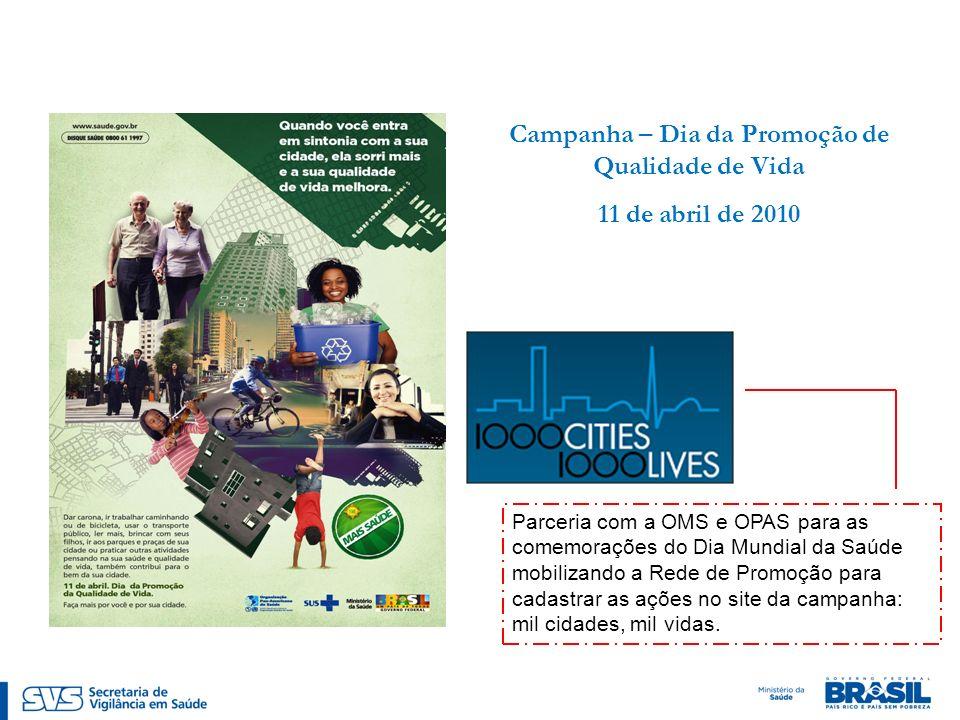 Campanha – Dia da Promoção de Qualidade de Vida
