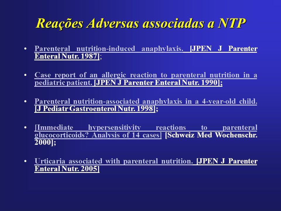 Reações Adversas associadas a NTP