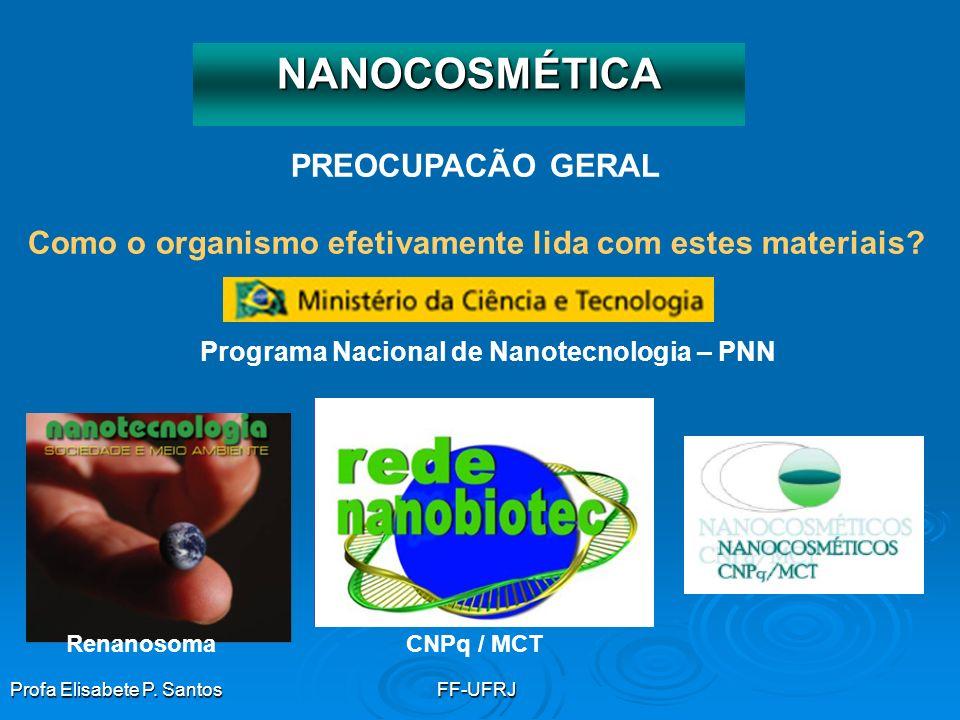 NANOCOSMÉTICA PREOCUPACÃO GERAL