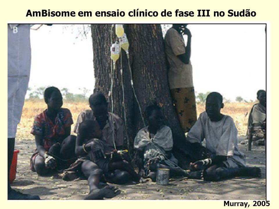 AmBisome em ensaio clínico de fase III no Sudão