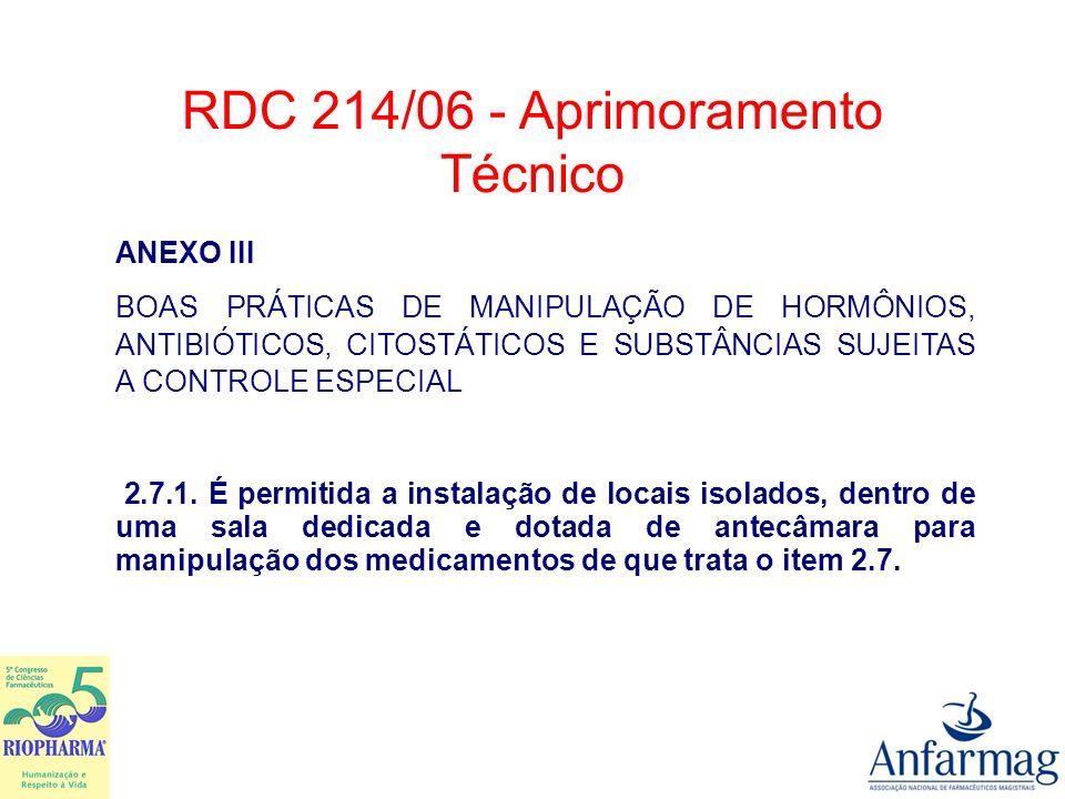 RDC 214/06 - Aprimoramento Técnico