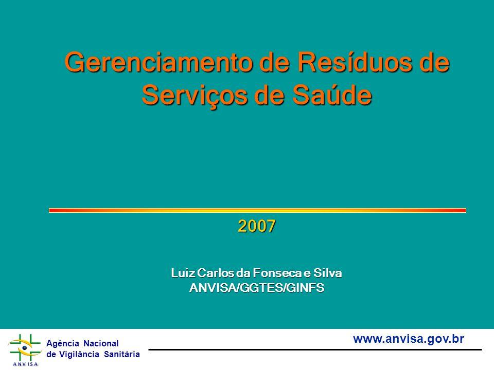 Gerenciamento de Resíduos de Serviços de Saúde 2007 Luiz Carlos da Fonseca e Silva ANVISA/GGTES/GINFS