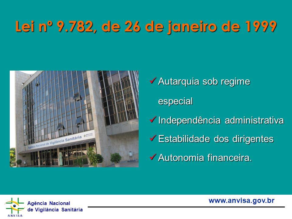 Lei nº 9.782, de 26 de janeiro de 1999 Autarquia sob regime especial